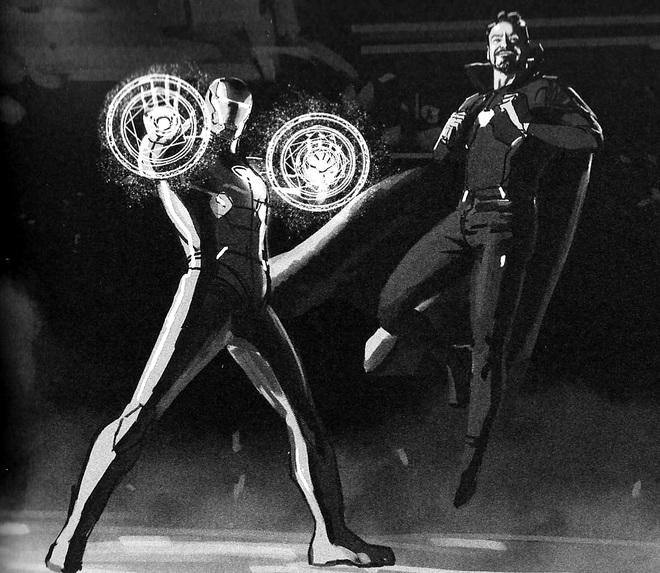 Marvel tiếp tục bật mí những ý tưởng kịch bản khác cho Endgame: Iron Man và Doctor Strange đổi trang phục, bé Thanos sơ sinh lộ diện - Ảnh 1.