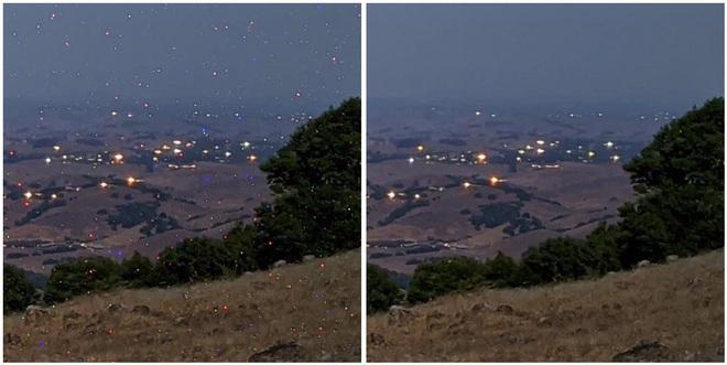 Các pixel ấm và nóng - hệquả của việc phơi sáng dài