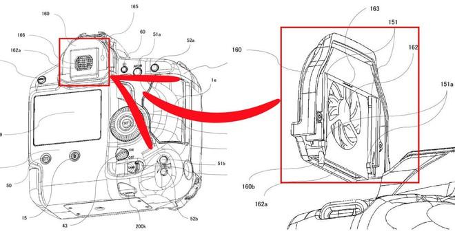 Sáng chế mới tiết lộ Canon sắp ra mắt quạt tản nhiệt qua ống ngắm cho máy ảnh DSLR - Ảnh 1.