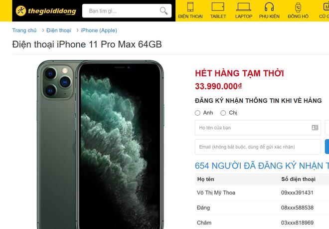 iPhone 11 Pro Max cháy hàng tại Việt Nam dù giá cao - Ảnh 2.