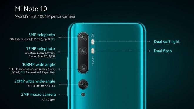 Xiaomi ra mắt Mi Note 10 và Mi Note 10 Pro: Smartphone có camera 108MP đầu tiên trên thế giới, giá từ 14.1 triệu đồng - Ảnh 3.