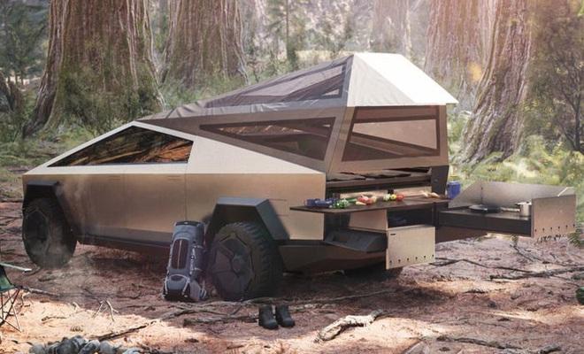 Với Cybertruck, dân du lịch có thể tha hồ dã ngoại mà không cần tốn thêm tiền mua lều trại, cứ nhìn tấm hình này thì biết - Ảnh 2.