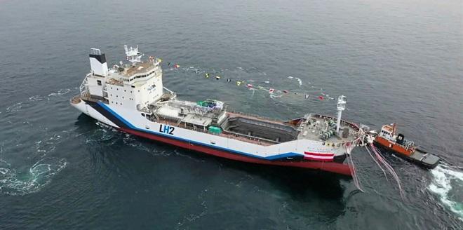 Nhật Bản giới thiệu tàu vận chuyển Hydro lỏng đầu tiên trên thế giới - Ảnh 2.