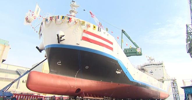 Nhật Bản giới thiệu tàu vận chuyển Hydro lỏng đầu tiên trên thế giới - Ảnh 1.