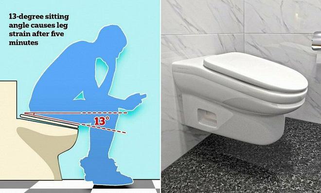 Nhà vệ sinh có bệ ngồi với góc nghiêng 13 độ giúp nâng cao năng suất lao động? - Ảnh 1.