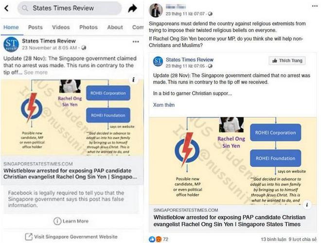 Lần đầu tiên trong lịch sử, Facebook phải đính chính lại bài đăng của người dùng theo yêu cầu của chính phủ Singapore - Ảnh 2.