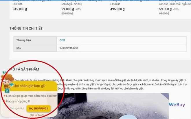 """Dùng thử extension """"trợ lý mua sắm"""" BeeCost: so sánh giá sản phẩm giữa các sàn TMĐT, tự tìm mã giảm giá - Ảnh 7."""