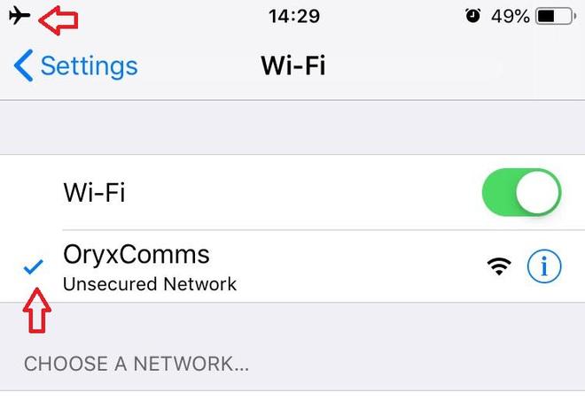 Làm gì khi iPhone báo đã kết nối vào mạng Wi-Fi miễn phí (không mật khẩu) nhưng không truy cập được Internet? - Ảnh 2.