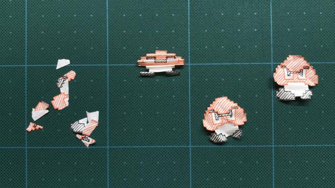 Super Mario Bros World 1-1 được tái tạo hoàn hảo trên... quyển vở của người hâm mộ Nhật Bản - Ảnh 6.