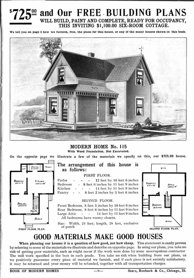 Nhà DIY ở Mỹ đã có từ đầu thế kỷ 20, 70% trong số đó vẫn trụ vững sau cả trăm năm, có căn được định giá tới 1 triệu USD - Ảnh 4.