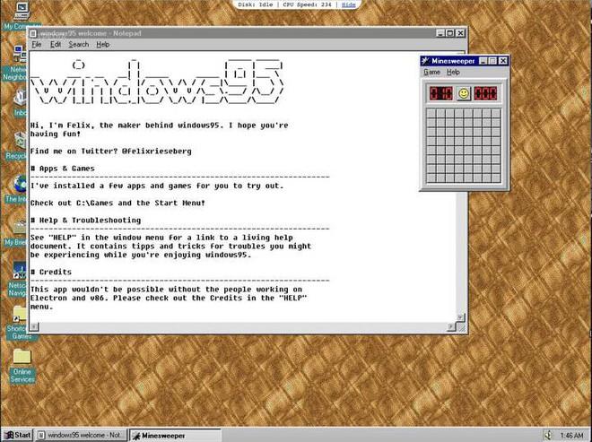 Thử ngay Windows 95 phiên bản 2.0 trên Linux, macOS và Windows với nhiều ứng dụng, tựa game mới - Ảnh 1.