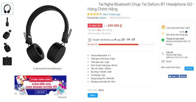 """Săn sale đầu năm, """"vớ"""" ngay được tai nghe Bluetooth thương hiệu Châu Âu chất lượng khá ổn, pin nghe cả tuần mà giá thì siêu mềm mịn! - Ảnh 1."""