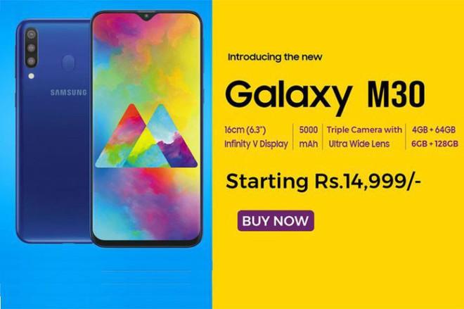 Samsung Galaxy M30 với 3 camera sau, pin 5.000mAh, 4GB RAM sẽ ra mắt vào đầu tháng 3, giá từ 4,9 triệu - Ảnh 2.