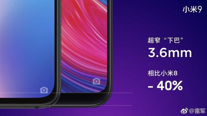 Sếp Xiaomi tuyên bố Mi 9 có cằm mỏng nhất phân khúc giá dưới 14 triệu, có thêm phiên bản màu bạc sang trọng và phụ kiện ốp lưng Alita độc đáo - Ảnh 1.