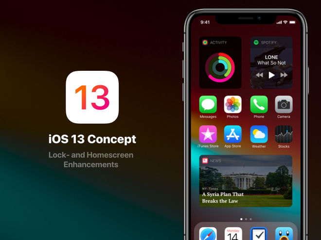 Cùng ngắm nhìn concept iOS 13 với giao diện hiện đại và thanh lịch hơn bản chính chủ rất nhiều - Ảnh 2.