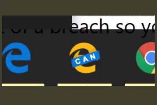 Rò rỉ logo và giao diện của Microsoft Edge bản dùng nhân Chromium: từ xanh sang vàng - Ảnh 1.