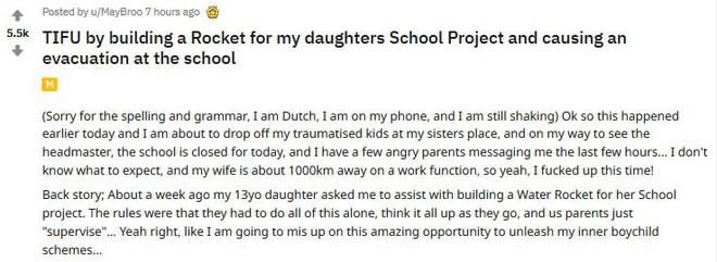 Hi hữu: Bố giúp con chế tạo tên lửa để phục vụ học tập nhưng lại khiến cả trường sơ tán vì nghi bị khủng bố - Ảnh 4.