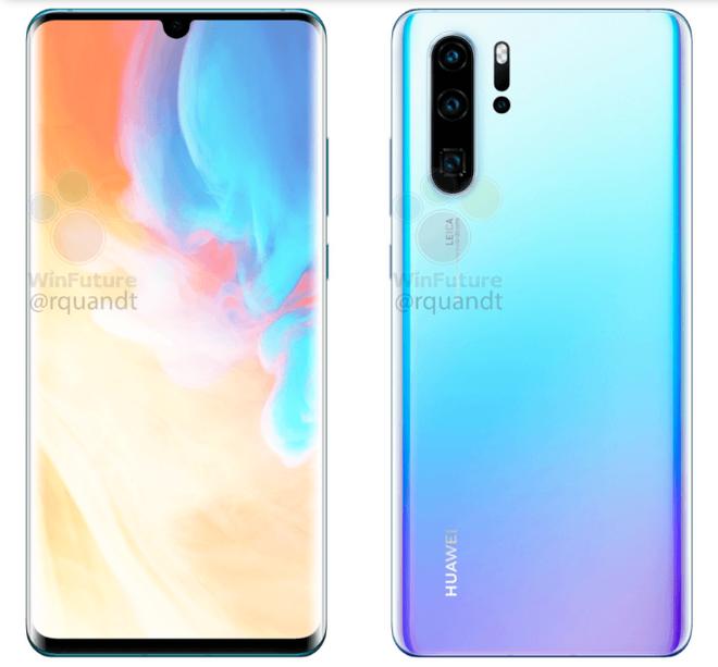 Huawei P30 và P30 Pro lộ ảnh báo chí, màn hình giọt nước cực nhỏ, 4 camera sau - Ảnh 1.