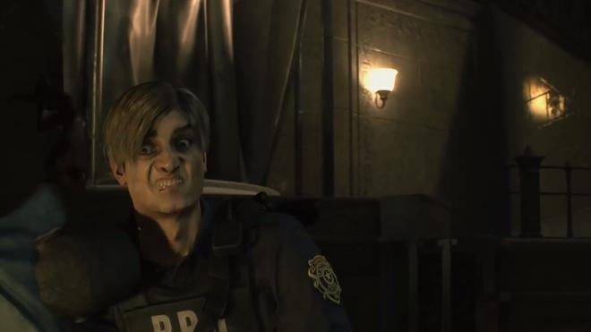 Cười ra bánh chưng với Resident Evil 2, khi biểu cảm nhân vật được tăng lên 500% - Ảnh 1.
