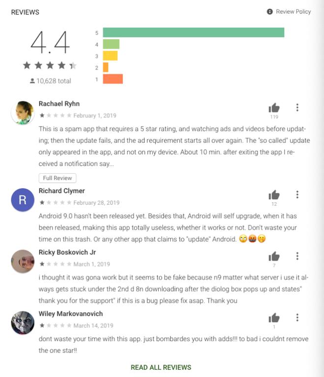 Rất nhiều người dùng bị lừa tải về ứng dụng cập nhật Android 9 Pie trên Google Play Store - Ảnh 2.