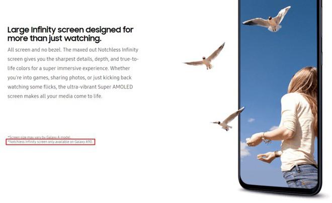 Samsung xác nhận Galaxy A90 sẽ sở hữu màn hình không khiếm khuyết mang tên Notchless Infinity - Ảnh 1.