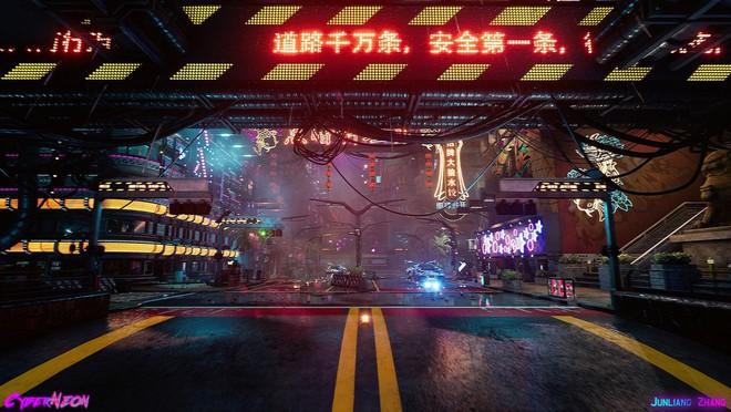 Dùng Unreal Engine, developer tự mình tạo ra thành phố Trung Quốc đậm chất cyberpunk trong 1,5 năm - Ảnh 2.