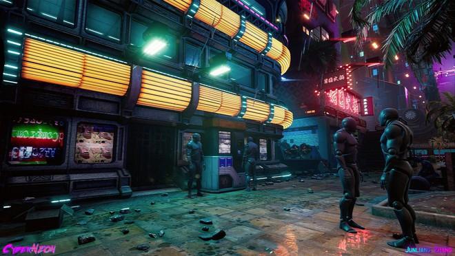Dùng Unreal Engine, developer tự mình tạo ra thành phố Trung Quốc đậm chất cyberpunk trong 1,5 năm - Ảnh 3.