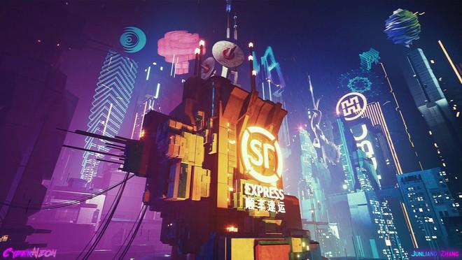 Dùng Unreal Engine, developer tự mình tạo ra thành phố Trung Quốc đậm chất cyberpunk trong 1,5 năm - Ảnh 5.