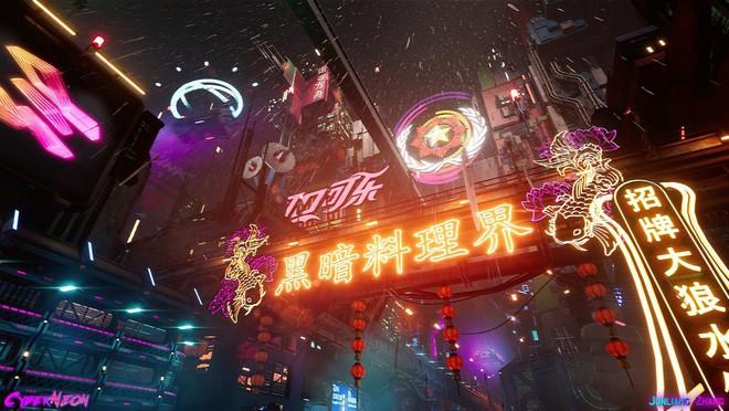 Dùng Unreal Engine, developer tự mình tạo ra thành phố Trung Quốc đậm chất cyberpunk trong 1,5 năm - Ảnh 6.
