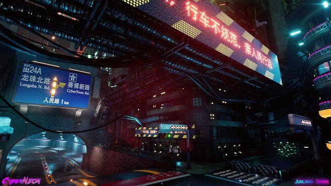 Dùng Unreal Engine, developer tự mình tạo ra thành phố Trung Quốc đậm chất cyberpunk trong 1,5 năm - Ảnh 7.