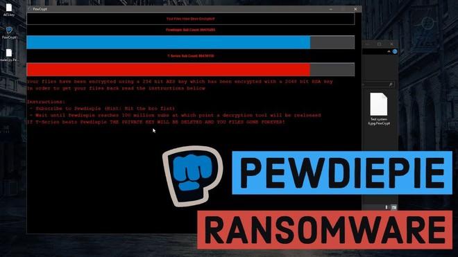 Xuất hiện loại ransomeware kỳ quái, chỉ mở khóa tập tin của nạn nhân khi PewDiePie đạt 100 triệu subscribers - Ảnh 1.
