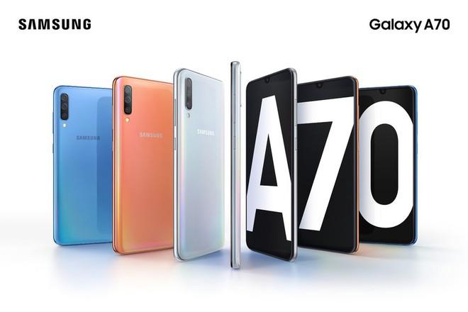 Samsung Galaxy A70 hoàn toàn lộ diện: Thiết kế Infinity-U, màn hình AMOLED 6,7 inch, cảm biến vân tay dưới màn hình, 3 camera sau và pin 4.500 mAh - Ảnh 1.