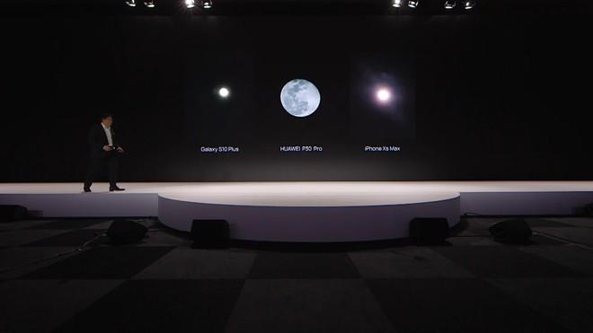 Thử chụp trăng bằng Huawei P30 Pro và so sánh với iPhone XS Max - Ảnh 1.