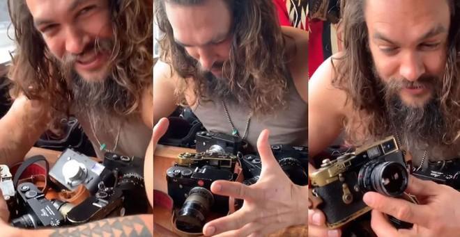 Aquaman Jason Momoa là một người đam mê nhiếp ảnh, có một bộ sưu tập máy ảnh Leica đắt giá - Ảnh 1.
