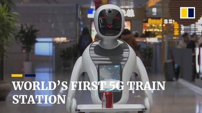 Hongqiao - Thượng Hải là nhà ga đầu tiên trên thế giới cung cấp kết nối 5G cho hành khách - Ảnh 1.