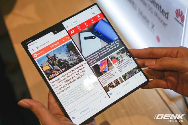 Huawei Mate X đầu tiên đã về Việt Nam: gập mở dễ dàng, ít bị nhăn, tính năng soi gương trên camera khá hay, giá khoảng 60 triệu - Ảnh 9.