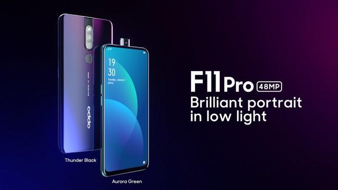 OPPO F11 Pro ra mắt: Camera chính 48MP, camera selfie thò thụt, pin 4000mAh - Ảnh 1.