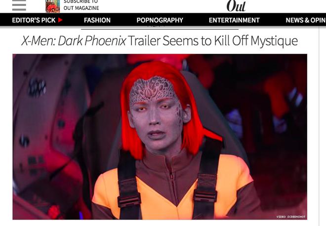 Vừa xuất hiện ở trailer Dark Phoenix, Mystique đã bị cả thế giới troll lia lịa - Ảnh 2.