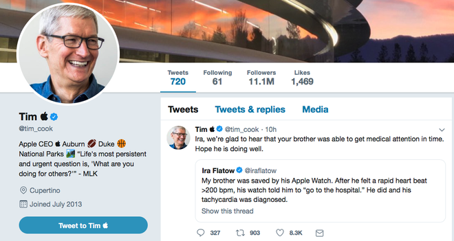CEO Apple Tim Cook đổi tên Twitter thành Tim Apple sau khi bị Tổng thống Mỹ Donald Trump gọi nhầm - Ảnh 2.