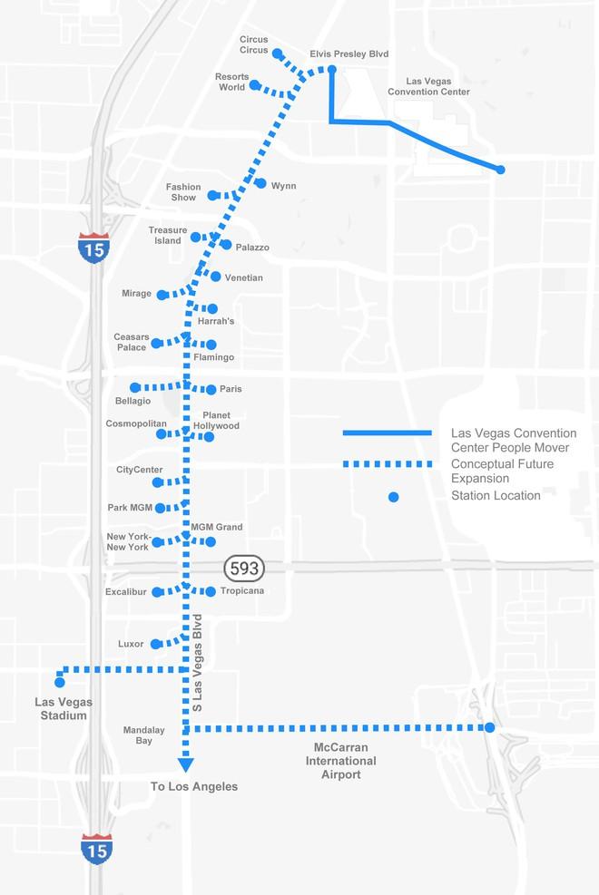 Las Vegas liên hệ Boring Company của Elon Musk để làm dự án giao thông trong thành phố - Ảnh 1.