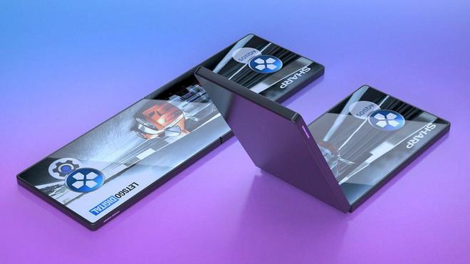 Sharp giới thiệu smartphone với màn hình vẫn hoạt động hoàn hảo sau 300.000 lần gập/mở - Ảnh 1.