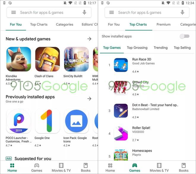 Đây là giao diện Material mới của ứng dụng Google Play Store - Ảnh 1.