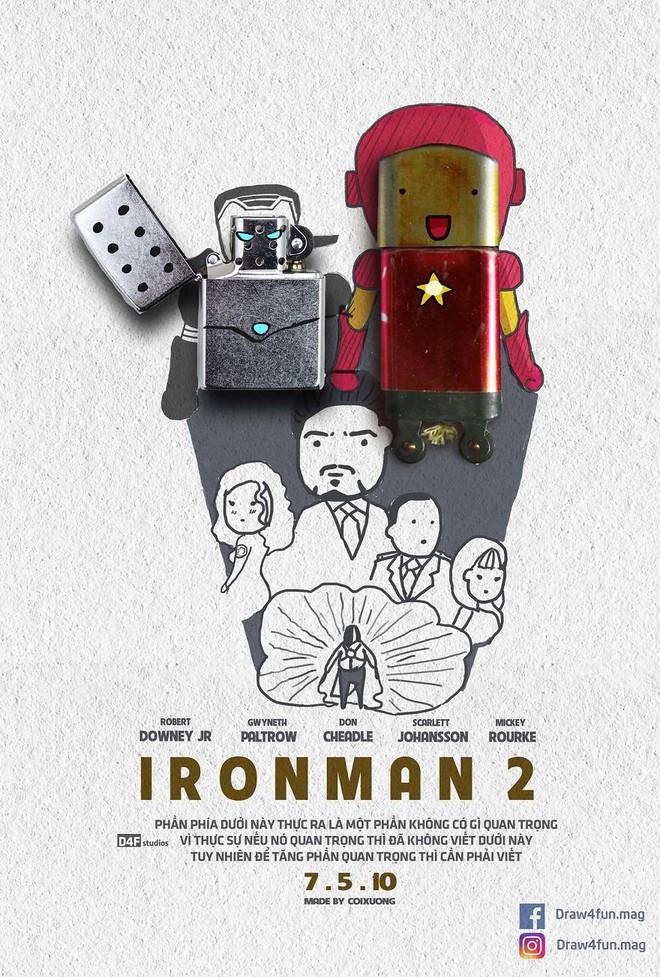 Họa sĩ Việt tiếp tục gây bất ngờ khi tái tạo toàn bộ poster phim Marvel từ dầu gió, cao sao vàng, diêm Thống Nhất - Ảnh 3.