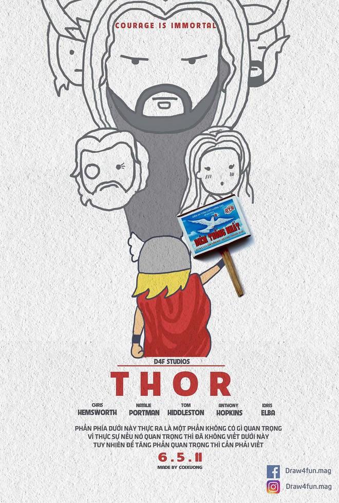 Họa sĩ Việt tiếp tục gây bất ngờ khi tái tạo toàn bộ poster phim Marvel từ dầu gió, cao sao vàng, diêm Thống Nhất - Ảnh 4.