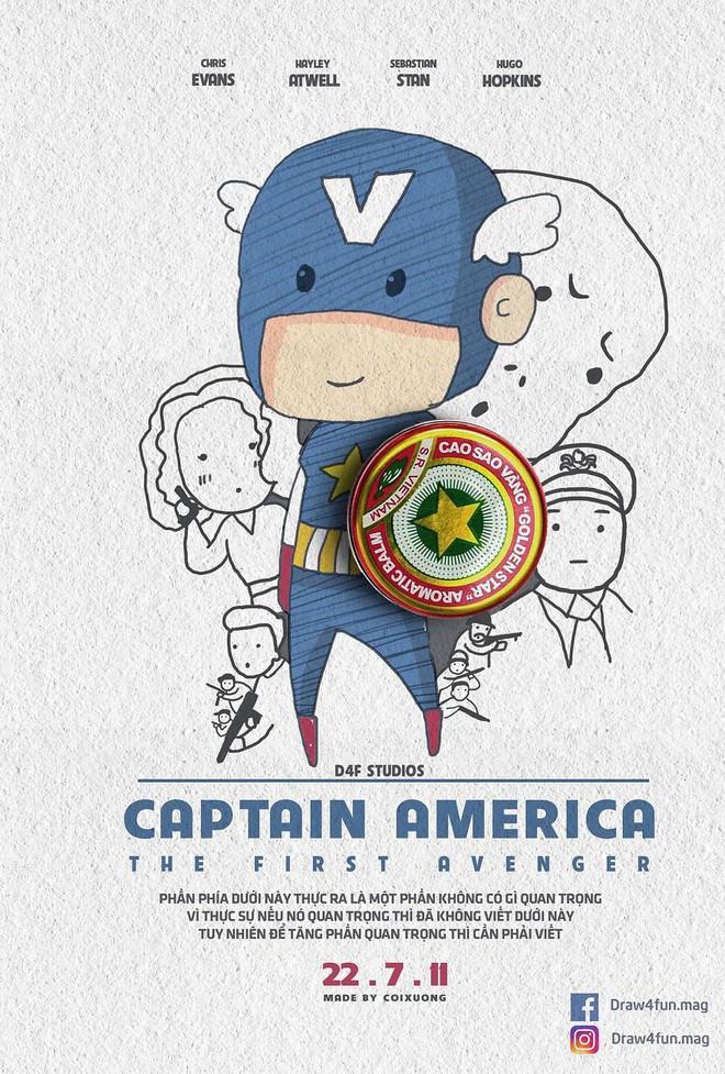 Họa sĩ Việt tiếp tục gây bất ngờ khi tái tạo toàn bộ poster phim Marvel từ dầu gió, cao sao vàng, diêm Thống Nhất - Ảnh 5.