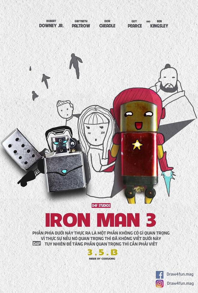 Họa sĩ Việt tiếp tục gây bất ngờ khi tái tạo toàn bộ poster phim Marvel từ dầu gió, cao sao vàng, diêm Thống Nhất - Ảnh 7.