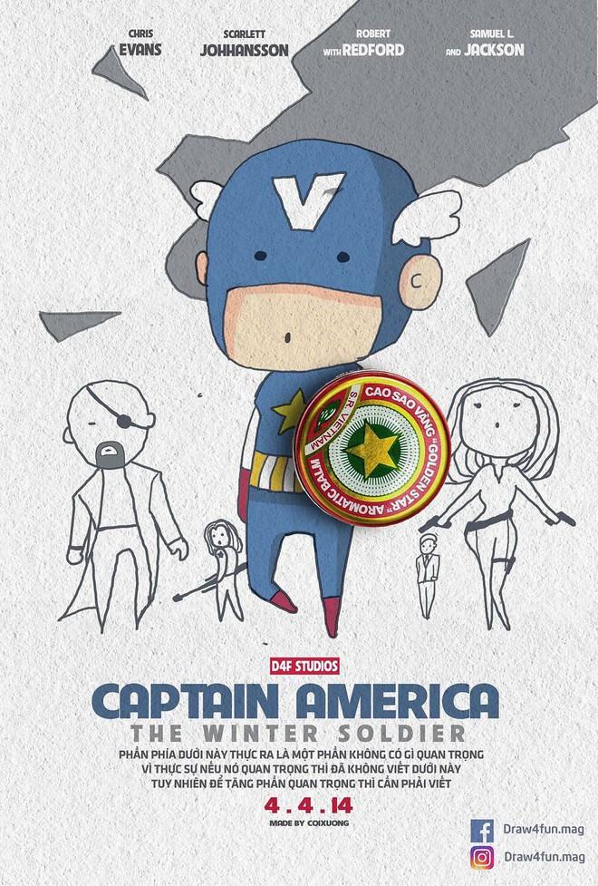 Họa sĩ Việt tiếp tục gây bất ngờ khi tái tạo toàn bộ poster phim Marvel từ dầu gió, cao sao vàng, diêm Thống Nhất - Ảnh 9.