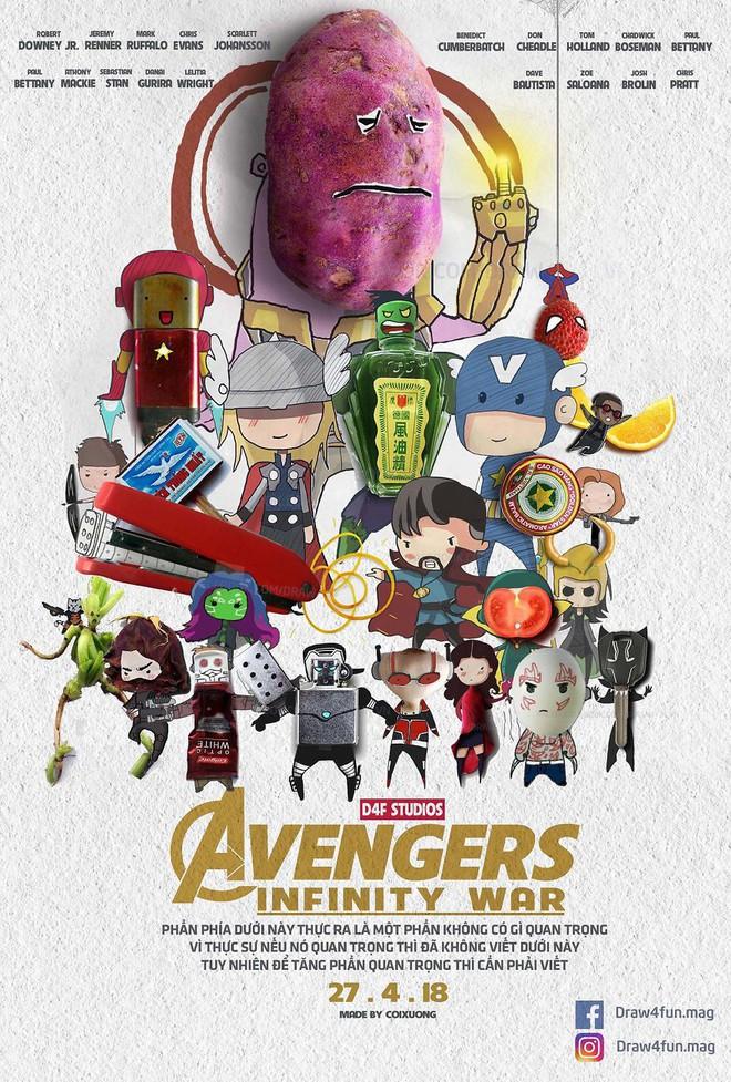 Họa sĩ Việt tiếp tục gây bất ngờ khi tái tạo toàn bộ poster phim Marvel từ dầu gió, cao sao vàng, diêm Thống Nhất - Ảnh 19.