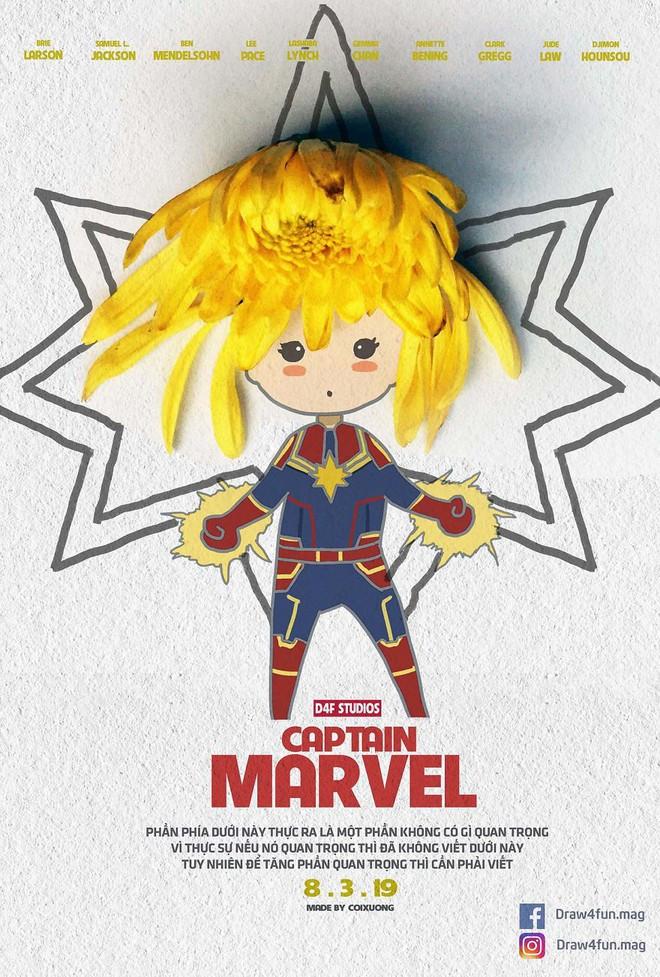 Họa sĩ Việt tiếp tục gây bất ngờ khi tái tạo toàn bộ poster phim Marvel từ dầu gió, cao sao vàng, diêm Thống Nhất - Ảnh 21.