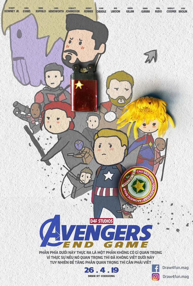 Họa sĩ Việt tiếp tục gây bất ngờ khi tái tạo toàn bộ poster phim Marvel từ dầu gió, cao sao vàng, diêm Thống Nhất - Ảnh 22.